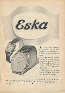 Publicité pour les montres Eska