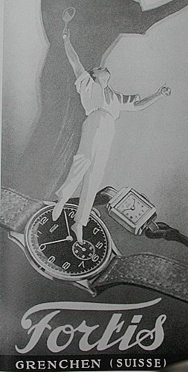 Publicité pour les montres Fortis