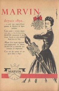 Publicité pour les montres Marvin