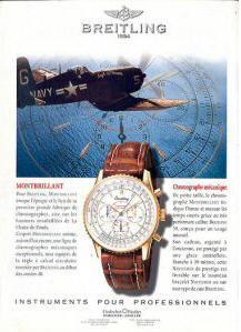 Publicité pour les montres Breitling