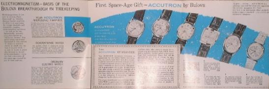 Publicité pour les montres Bulova