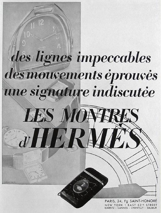 Publicité pour les montres Hermes