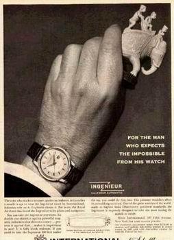 Publicité pour les montres IWC