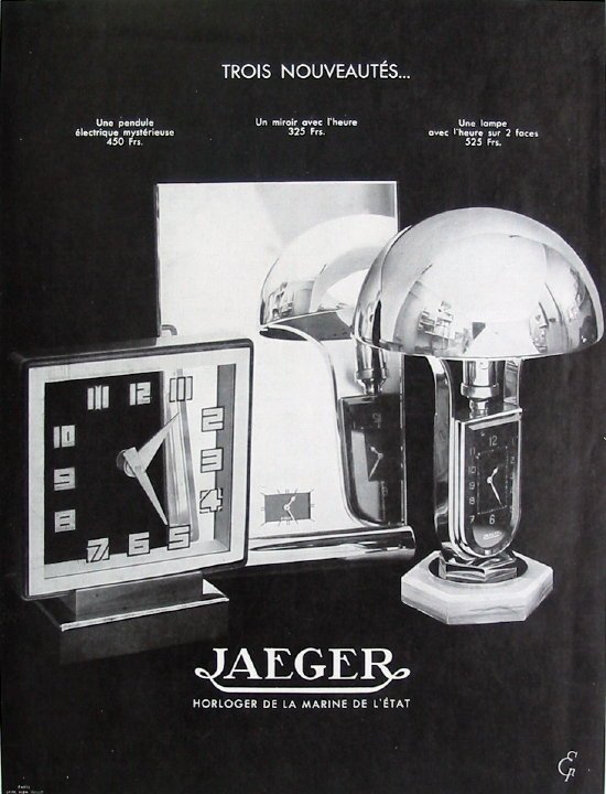 Publicité pour les montres Jaeger
