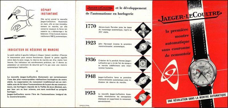 Publicité pour les montres Jaeger LeCoultre
