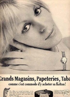 Publicité pour les montres Kelton