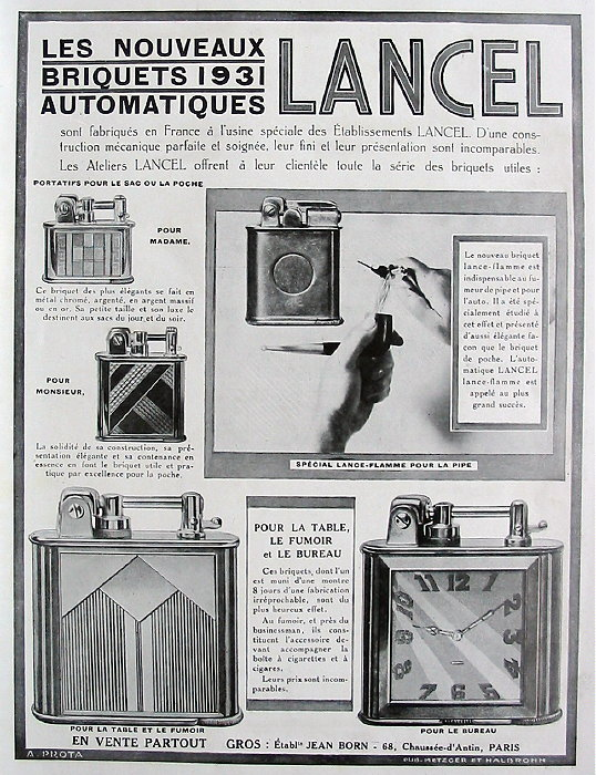 Publicité pour les montres ,Lancel