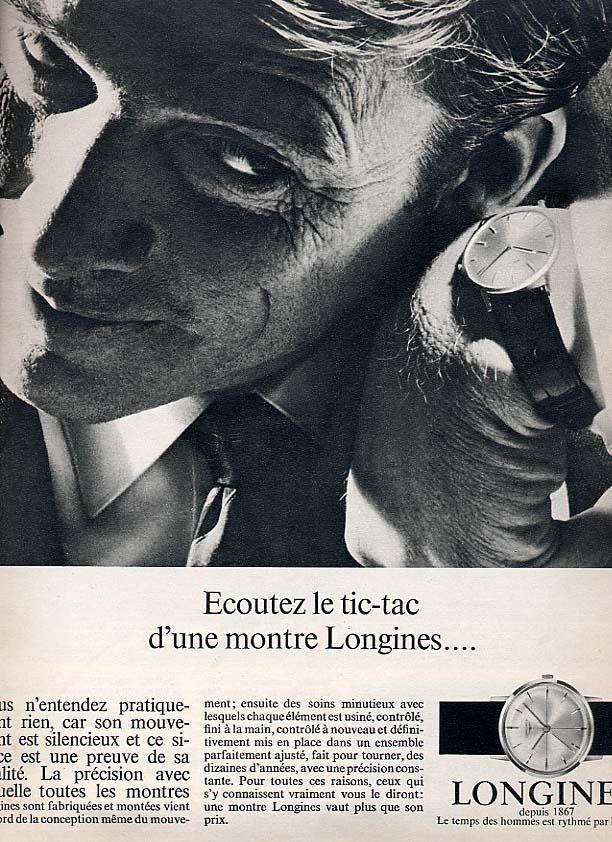 Publicité pour les montres Longines