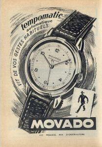 Publicité pour les montres Movado