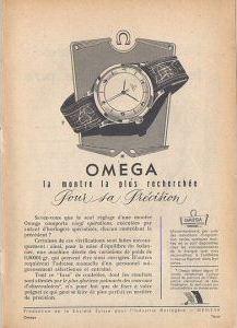 Publicité pour les montres Omega