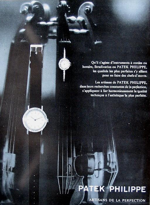 Publicité pour les montres Patek Philippe