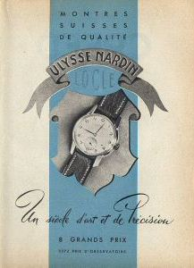 Publicité pour les montres Ulysse Nardin