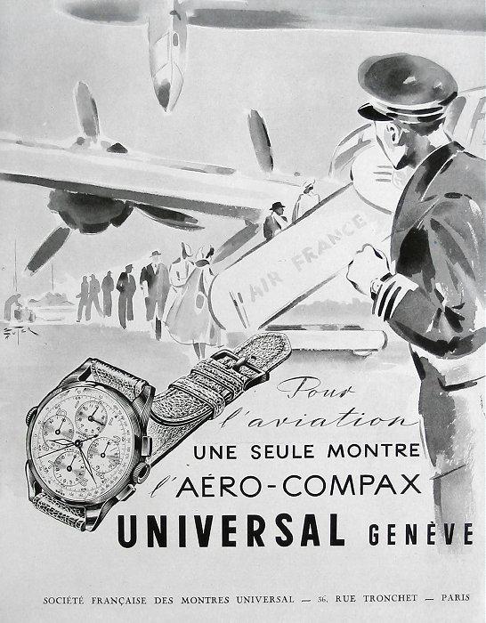 Publicité pour les montres Universal Genève