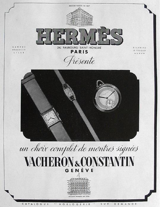 Publicité pour les montres Vacheron Constantin