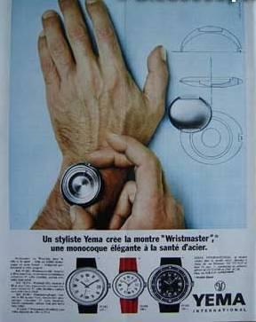 Publicité pour les montres Yéma